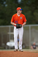 Griffin Green (25) during the WWBA World Championship at the Roger Dean Complex on October 12, 2019 in Jupiter, Florida.  Griffin Green attends Phillips Academy in Chelmsford, MA and is committed to Virginia Tech.  (Mike Janes/Four Seam Images)