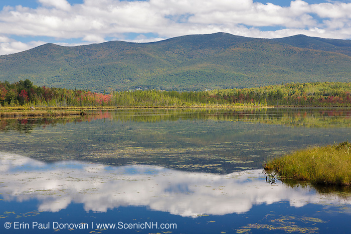 Pondicherry Wildlife Refuge - Reflection of mountain range in Cherry Pond in Jefferson, New Hampshire USA. This refuge was designated a National Natural Landmark in 1974 by the National Park Service
