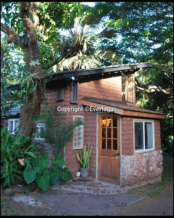BNPS.co.uk (01202 558833)<br /> Pic: EveHogan/BNPS<br /> <br /> The tiny house in Maui, Hawaii where Hendrix stayed.<br /> <br /> This unique 'treasure map' was drawn by Jimi Hendrix to guide a blonde beauty through Crosstown Traffic and into his bed.<br /> <br /> The guitar hero put pen to paper help the anonymous woman find her way to the oddly named Gingerbread House where he was staying in Maui, Hawaii.<br /> <br /> Smitten Hendrix even scrawled his address and phone number for his New York home on the tiny scrap of paper, but the couple would never meet in the Big Apple - as he tragically died two months later, aged just 27.