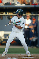 Brian Bogusevic of the Tulane Green Wave bats during a 2004 season game at Goodwin Field in Fullerton, California. (Larry Goren/Four Seam Images)