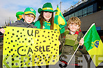 Cian O'Grady, Holly O Donnell, and Eoghan Lyne Castegregory fans at the All Ireland Junior Club Championship at Croke park on Sunday..