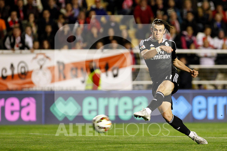 Gareth Bale of Real Madrid during La Liga match between Rayo Vallecano and Real Madrid at Vallecas Stadium in Madrid, Spain. April 08, 2015. (ALTERPHOTOS/Caro Marin)