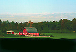 Red Barn in the Morning