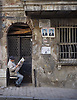 A man reads the morning paper in Istanbul, Turkey. © Kevin J. Miyazaki/Redux