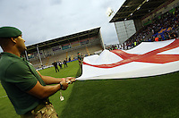 PICTURE BY VAUGHN RIDLEY/SWPIX.COM - Rugby League - 2013 International Origin - England v Exiles - Halliwell Jones Stadium, Warrington, England - 14/06/13 - Prematch Entertainment.