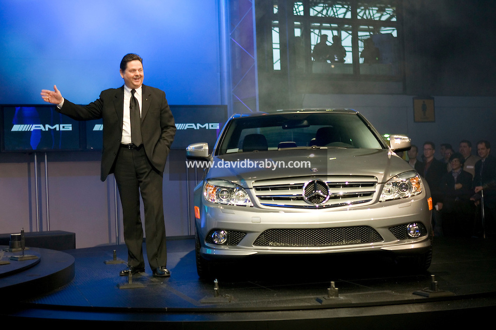 4 April 2007 - New York City, NY - Ernst Lieb, President and CEO of Mercedes-Benz USA, presents the Mercedes-Benz 2008 C-Class on day one of the press preview at the New York International Auto Show in New York City, USA, 4 April 2007.