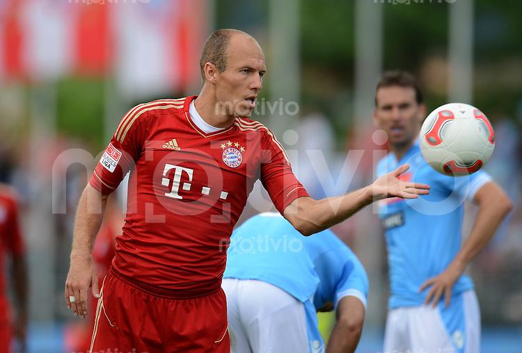 Fussball 1. Bundesliga:  Saison  Vorbereitung 2012/2013     Trainingslager des FC Bayern Muenchen 20.07.2012 Testspiel:  FC Bayern Muenchen - SSC Neapel Arjen Robben (FC Bayern Muenchen)