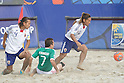 (L-R) Shinji Makino, iTakashi Arakaki (JPN), (JPN), SEPTEMBER 02, 2011 - Beach Soccer : FIFA Beach Soccer World Cup Ravenna-Italy 2011 Group D match between Japan 2-3 Mexico at Stadio del Mare, Marina di Ravenna, Italy, (Photo by Enrico Calderoni/AFLO SPORT) [0391]
