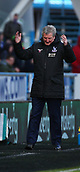17th March 2018, The John Smiths Stadium, Huddersfield, England; EPL Premier League football, Huddersfield Town versus Crystal Palace; Roy Hodgson Manager of Crystal Palace is frustrated after not getting a penalty in the second half