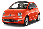 2016 Fiat 500-C Lounge 2 Door Convertible Angular Front stock photos of front three quarter view