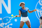 June 18th 2017, Edgbaston Priory Club; Tennis Tournament; Aegon Classic Birmingham; Sunday Qualifiers;  Sachia Vickery plays a forehand against Katie Boulter
