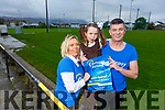 Mary Lacey with her daughter Amelia and Francy Breen  launching the fundraiser for Epilepsy Kerry in the Austin Stacks Clubhouse on Thursday.