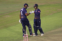 Varun Chopra and Ryan ten Doeschate enjoy a useful partnership for Essex during Glamorgan vs Essex Eagles, Vitality Blast T20 Cricket at the Sophia Gardens Cardiff on 7th August 2018