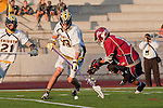 Mission Viejo, CA 05/11/11 - Kent Iizuka (St Margaret #11) and Chance Cooper (Foothill-Santa Ana #19) in action during the St Margaret-Foothill boys varsity lacrosse game at Mission Viejo High School for the 2011 CIF Southern Section South Division Championship.  Foothill defeated St Margaret 15-10.