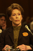 Mary Tyler Moore listens to the testimony before the United States Senate Appropriations Subcommittee on Labor, HHS, and Education hearing on the benefits of stem cell research in Washington, D.C. on September 14, 2000..Credit: Ron Sachs / CNP