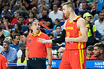 Sergio Scariolo and Victor Claver during Spain vs Dominican Republic friendly match in Madrid. August 22, 2019. (ALTERPHOTOS/Francis González)