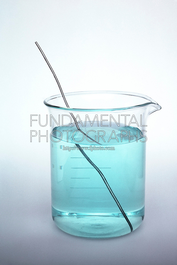 SILVER WIRE IN COPPER NITRATE SOLUTION<br /> There Is No Displacement Reaction<br /> When silver is placed in a Copper Nitrate solution there is no reaction. Comparatively, when Copper is placed in a Silver Nitrate solution, a displacement reaction occurs resulting in solid silver crystals &amp; a Copper Nitrate solution.