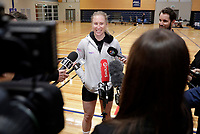 10.09.2018 Silver Ferns Laura Langman during the Silver Ferns training in Auckland. Mandatory Photo Credit ©Michael Bradley.