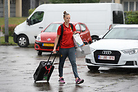 20170725 - TILBURG , NETHERLANDS :  Belgian Yana Daniels pictured going back to Belgium as the Belgian national women's soccer team Red Flames was not able to qualify for the quarter finals after a loss against The Netherlands , on Tuesday 25 July 2017 in Tilburg . The Red Flames finished on 3 th place in Group A at the Women's European Championship 2017 in the Netherlands. PHOTO SPORTPIX.BE | DAVID CATRY