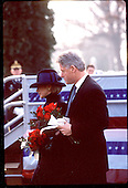 United States President Bill Clinton and first lady Hillary Rodham Clinton attend the 10th Anniversary Remembrance Service of Pan American Flight 103 in Arlington, Virginia on December 21, 1998..Credit: Brad Markel / Pool via CNP