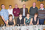 Tralee Golf Club staff pictured enjoying their Christmas party held in The Ballyroe Heights Hotel on Friday night. Seated l/r Anita Lynch, Bernie Sinnott, Mona Burke and Angela Meehan, standing l/r Padraig Wall, John Walsh, J.J. Young, Ivor Healy, Martin Young and Eugene O'Callaghan.