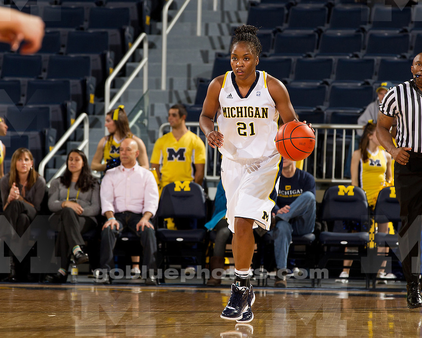 The University of Michigan women's basketball team fell to No. 18 Penn State, 77-56, at Crisler Center in Ann Arbor, Mich., on January 26, 2012.