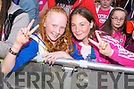 Fiona O'Shea and Terrie O'Leary (both Tralee) at Denny Street Stage on Friday waiting for Jedward.