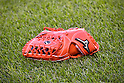 Ichiro's glove,<br /> SEPTEMBER 14, 2015 - MLB :<br /> The detail shot of the glove of Ichiro Suzuki of the Miami Marlins before the Major League Baseball game against the New York Mets at Citi Field in Flushing, New York, United States. (Photo by Hiroaki Yamaguchi/AFLO)