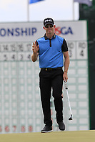 Brandon Stone (RSA) putts on the 18th green during Saturday's Round 3 of the 117th U.S. Open Championship 2017 held at Erin Hills, Erin, Wisconsin, USA. 17th June 2017.<br /> Picture: Eoin Clarke | Golffile<br /> <br /> <br /> All photos usage must carry mandatory copyright credit (&copy; Golffile | Eoin Clarke)