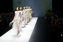 "October 18, 2012, Tokyo, Japan - Models walk down the catwalk wearing ""SOMARTA"" during the Mercedes-Benz Fashion Week Tokyo 2013 Spring/Summer. Fashion week in Tokyo runs from October 13-20. (Photo by Christopher Jue/Nippon News)"