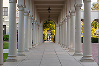 Columns behind Weingart Hall, March 16, 2009.<br /> (Photo by Marc Campos, Occidental College Photographer)