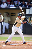 UCF Knights catcher Matt Diorio (14) at bat during a game against the Siena Saints on February 21, 2016 at Jay Bergman Field in Orlando, Florida.  UCF defeated Siena 11-2.  (Mike Janes/Four Seam Images)