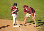 A Loyalsock batter receives instruction from his coach.