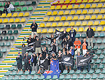 The Hague, Netherlands, June 15: Fans of New Zealand celebrate before the field hockey placement match (Men - Place 7th/8th) between Spain and the Black Sticks of New Zealand on June 15, 2014 during the World Cup 2014 at Kyocera Stadium in The Hague, Netherlands.  Final score after full time 1-1 (0-1). The Black Sticks of New Zealand win the shoot-out 1-4.  (Photo by Dirk Markgraf / www.265-images.com) *** Local caption ***