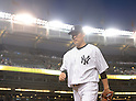 Masahiro Tanaka (Yankees),<br /> SEPTEMBER 8, 2015 - MLB :<br /> Masahiro Tanaka of the New York Yankees walks back to the dugout after the top of the fourth inning during the Major League Baseball game against the Baltimore Orioles at Yankee Stadium in the Bronx, New York, United States. (Photo by AFLO)