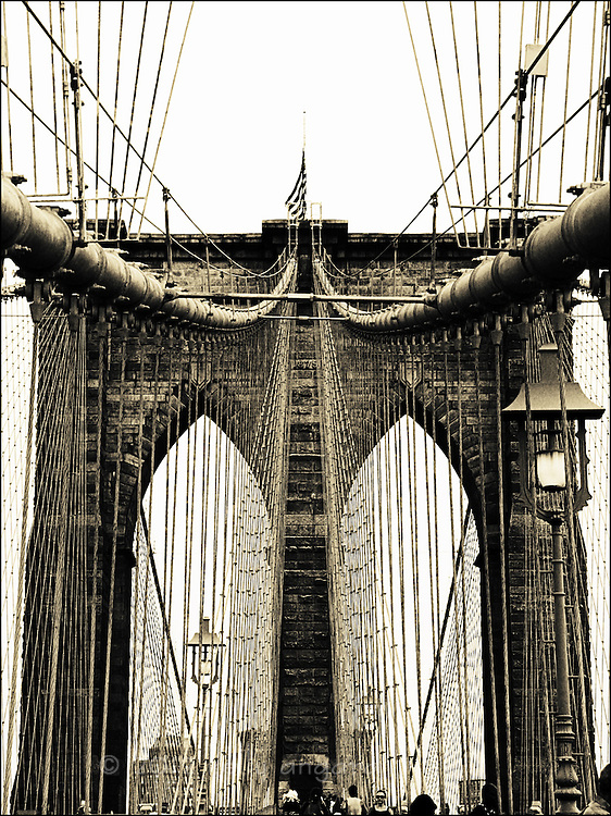 Brooklyn Bridge; also available in b&w