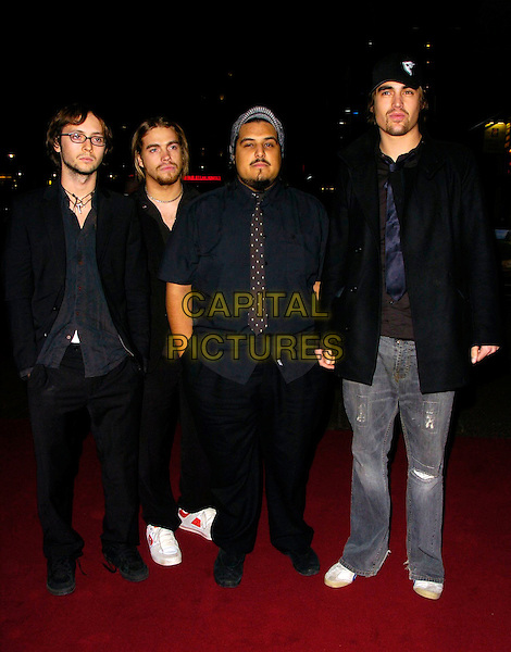 "FIGHTSTAR.""Tenacious D: In The Pick Of Destiny"" world premiere, Vue West End, London, UK..November 1st, 2006.Ref: CAN.full length jeans denim black shirt coat hat.www.capitalpictures.com.sales@capitalpictures.com.©Can Nguyen/Capital Pictures"