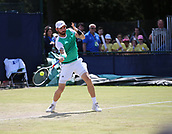 June 16th 2017, Nottingham, England; ATP Aegon Nottingham Open Tennis Tournament day 5;  Bjorn Fratangelo of USA in action in his match against Marius Copil of Romania
