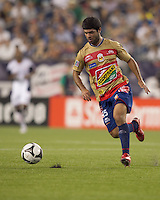 Monarcas Morelia defender Francisco Dorame (15). Monarcas Morelia defeated the New England Revolution, 2-1, in the SuperLiga 2010 Final at Gillette Stadium on September 1, 2010.
