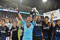 Stanford, CA - Saturday July 01, 2017: Chris Wondolowski, David Bingham, Victor Bernardez, Anibal Godoy, Jahmir Hyka during a Major League Soccer (MLS) match between the San Jose Earthquakes and the Los Angeles Galaxy at Stanford Stadium.