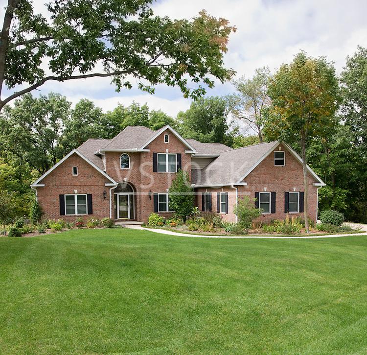 USA, Illinois, Metamora, Exterior of large suburban house