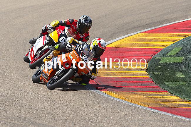CEV Repsol en Motorland / Aragón <br /> a 07/06/2014 <br /> En la foto :<br /> Moto3<br /> 36 max enderlein<br /> 64 ruju<br />RM/PHOTOCALL3000