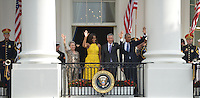 President Barack Obama and First Lady Michelle Obama welcome Prime Minister Lee Hsien Loong of Singapore and his wife , to the White House for an official visit. Patsy Lynch/MediaPunch