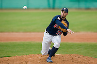 12 Oct 2008: Laurent Aoutin pitches against Senart during game 2 of the french championship finals between Templiers (Senart) and Huskies (Rouen) in Chartres, France. The Huskies win 7-4 over the Templiers.