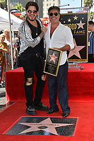 LOS ANGELES, CA. August 22, 2018: Simon Cowell & Adam Lambert at the Hollywood Walk of Fame Star Ceremony honoring Simon Cowell.