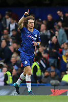 David Luiz celebrates scoring Chelsea's second goal during Chelsea vs Watford, Premier League Football at Stamford Bridge on 5th May 2019