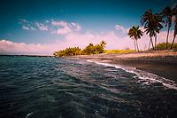 A remote camping beach in Kailua-Kona, Hawai'i Island.