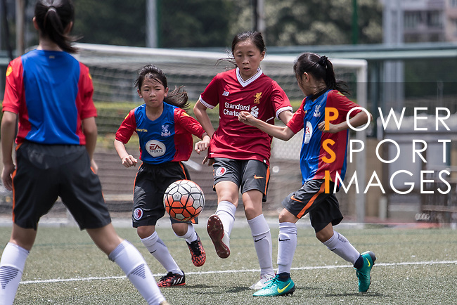 Premier Skills Coaching section for the launch of the Premier League Asia Trophy 2017 at the Hong Kong Football Club on 01 June 2017 in Hong Kong, China Photo by Chris Wong / Power Sport Images