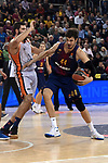 Turkish Airlines Euroleague 2017/2018.<br /> Regular Season - Round 8.<br /> FC Barcelona Lassa vs Valencia Basket: 89-71.<br /> Bojan Dubljevic vs Ante Tomic.