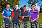 Taking part in The St. Kierans Golf classic Fundraiser at Castleisland Golf Club on Saturday were Colm O'Shea, James McAuliffe, Eamon O'Connor and David O'Donoghue.